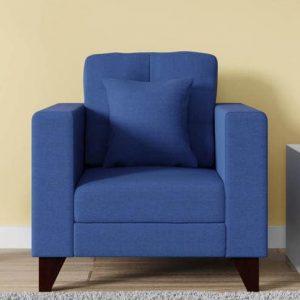 Buy Inferio One Seater Sofa in Denim Blue Colour Online