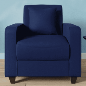 Buy Naples One Seater Sofa in Navy Blue Colour Online