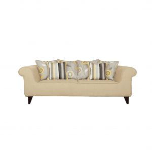 Buy Salerno Three Seater Sofa in Beige Colour Online