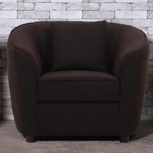 Buy Ziata One Seater Sofa in Charcoal Grey Colour Online