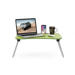Calips Foldable Wood Portable Green Laptop Table