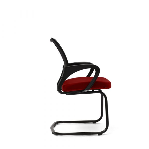 Ramsey Red Fixed Armrest Visitor Chair