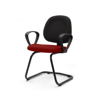Beacons Red Visitor Chair