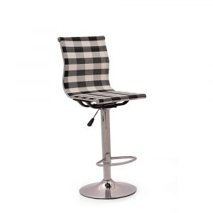 Bedford Bar Stool Mesh Black & White