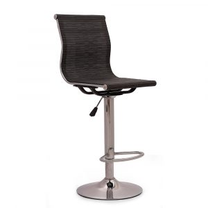 Brighton Mesh Black Bar Stool