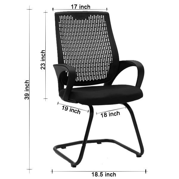 Chiltern Black Visitor Chair