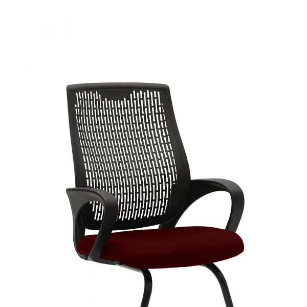 Chiltern Maroon Visitor Chair