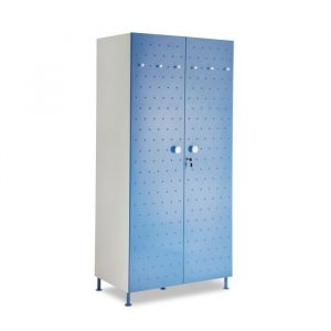 Crewe Blue Dot 2 door Steel Wardrobe