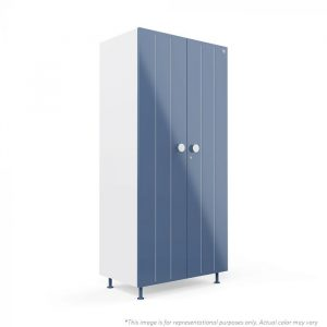 Forma Blue Bliss 2 door Steel Wardrobe