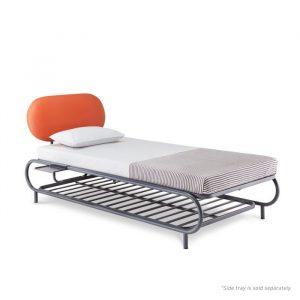 Forma Bud Dark Grey Single Steel Bed