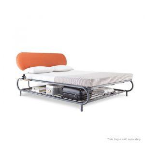 Forma Bud Grey Queen Steel Bed