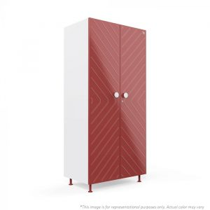 Forma Burgundy Ray 2 door Steel Wardrobe