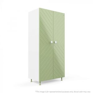 Forma Light grey Ray 2 door Steel Wardrobe