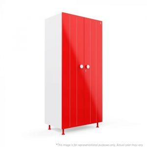 Forma Red Bliss 2 door Steel Wardrobe