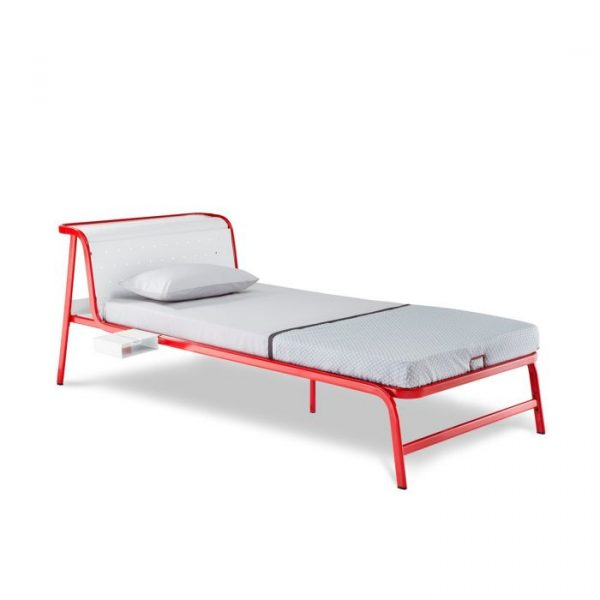 Forma Vibe Red Single Steel Bed