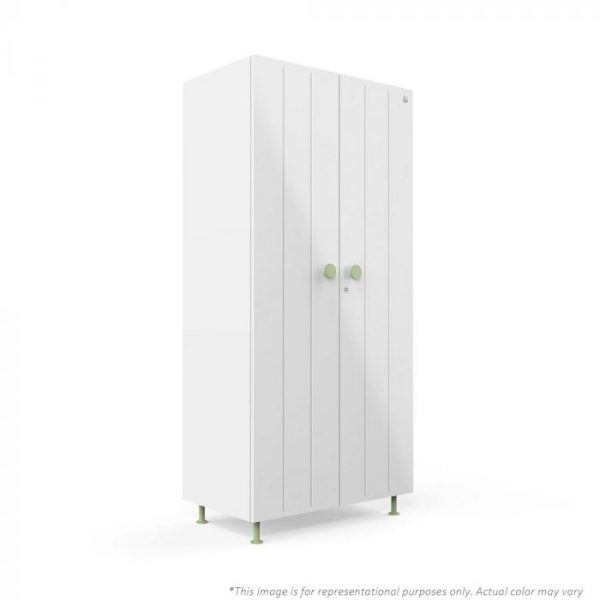 Forma White Bliss 2 door Steel Wardrobe