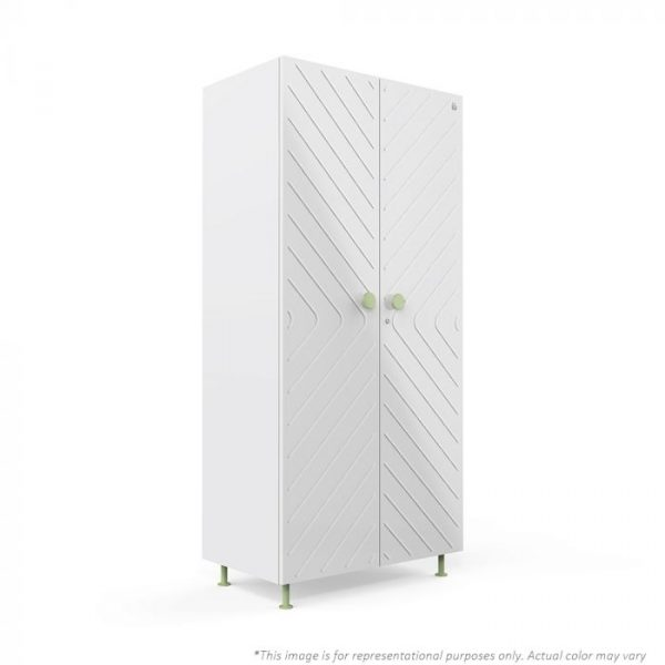 Forma White Ray 2 door Steel Wardrobe