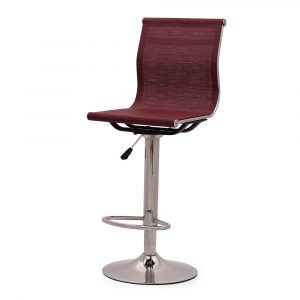 Hove Mesh Maroon Bar Stool