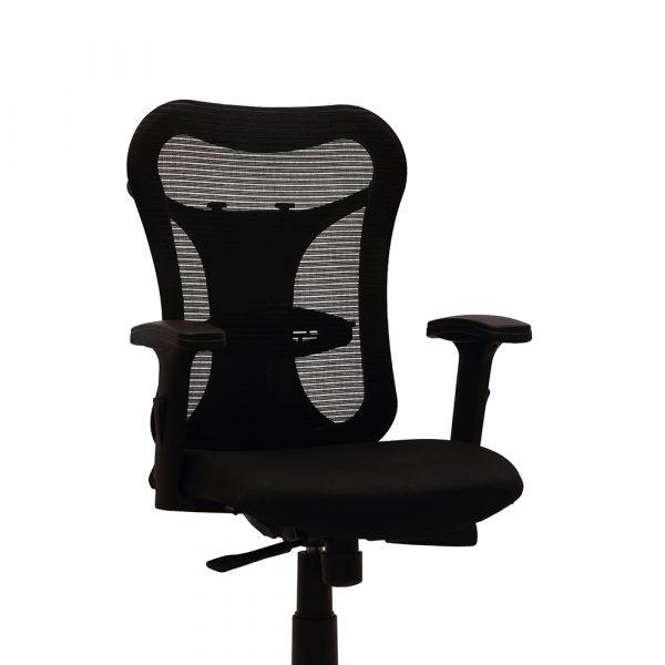 Huntingdon Black Adjustable Armrest Chair