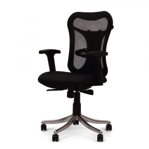 Huntingdon Black Adjustable Armrest Chair