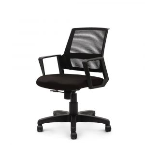 Marlow Black Fixed Armrest Chair
