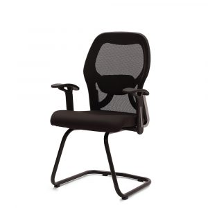 Marlow Black Fixed Armrest Visitor Chair