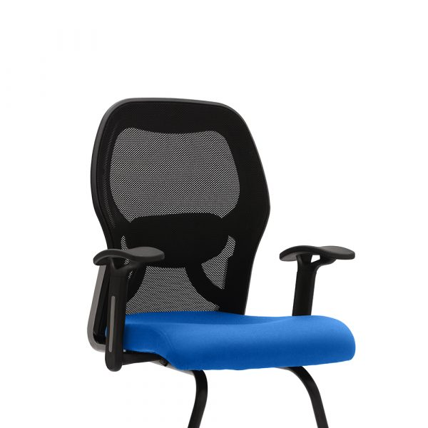 Marlow Blue Fixed Armrest Visitor Chair