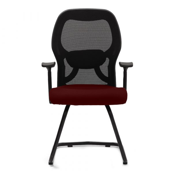 Marlow Maroon Fixed Armrest Visitor Chair