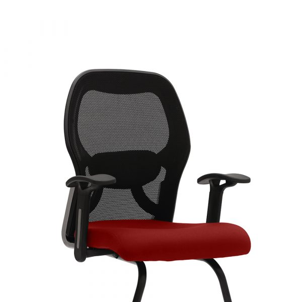 Marlow Red Fixed Armrest Visitor Chair