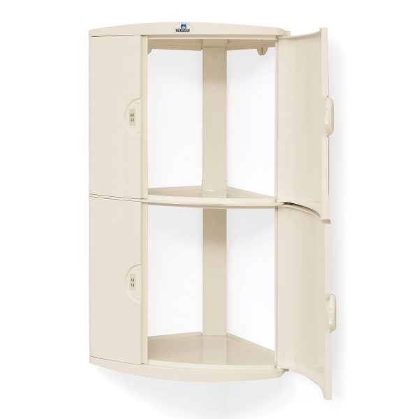 Nilkamal 2 Door Ivory Corner Wall Cabinet