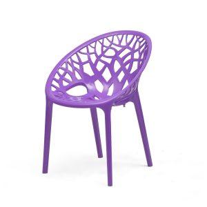 Nilkamal Crystal PP Violet Plastic Chair