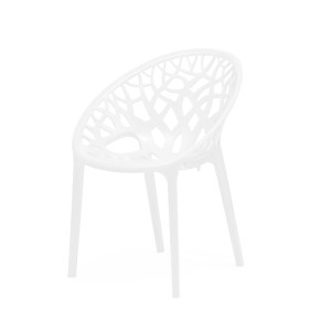 Nilkamal Crystal PP White Plastic Chair