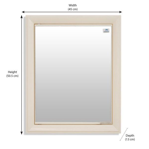 Nilkamal Gem Ivory Mirror Wall Cabinet