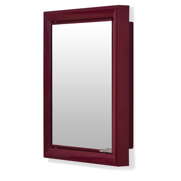 Nilkamal Gem Maroon Mirror Wall Cabinet