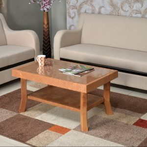 Nilkamal Pear Wood Glass Center Table
