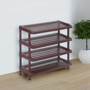 Nilkamal Premium Maroon Multipurpose Four Rack