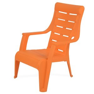 Nilkamal Premium Sunday Orange Chair