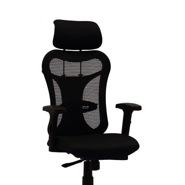 Ramsey Black Adjustable Armrest Chair