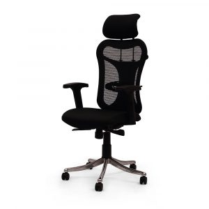 Ramsey Black Adjustable Armrest Chair