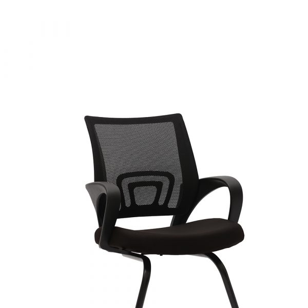 Ramsey Black Fixed Armrest Visitor Chair