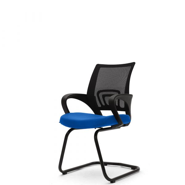 Ramsey Blue Fixed Armrest Visitor Chair