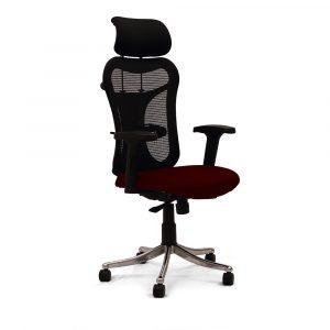 Ramsey Maroon Adjustable Armrest Chair