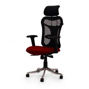 Ramsey Red Adjustable Armrest Chair