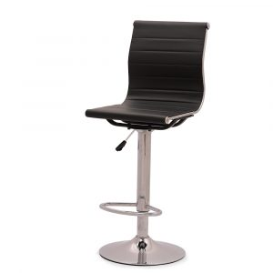 Sandhurst Rexine Black Bar Stool