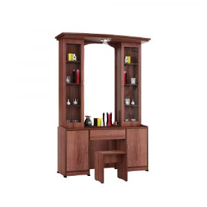 Atlantis Wenge Dressing Table with Double Shelf
