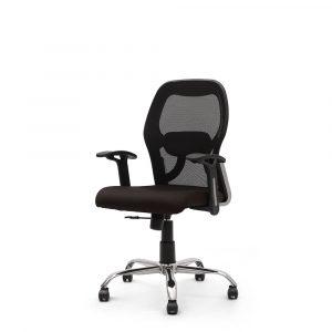 Wisbech Black Fixed Armrest Chair