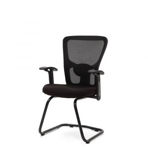 Wisbech Black Fixed Armrest Visitor Chair