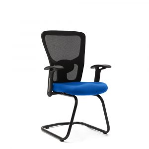 Wisbech Blue Fixed Armrest Visitor Chair
