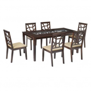 Buy Aldan Solid Wood 6 Seater Dining Set Online
