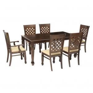 Buy Argun Solid Wood 6 Seater Dining Set Online